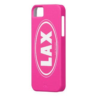 Oval - caso rosado del iphone 5 del lacrosse iPhone 5 carcasas