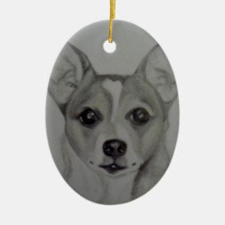 Oval Chihuahua Ornament artwork by Carol Zeock