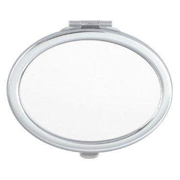 Beach Themed Oval Compact Mirror