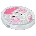 Oval Compact Mirror Poodle