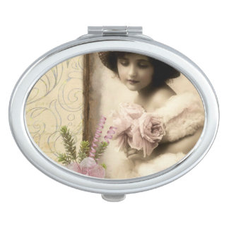 Oval Compact Vintage Compact Mirror For Makeup