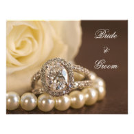Oval Diamond and Pearls Engagement Announcement