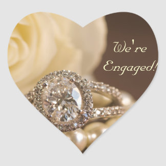 Oval Diamond Ring Engagement Envelope Seals