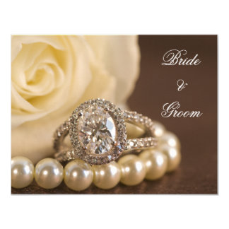 Oval Diamond Ring Rose Engagement Announcement