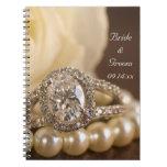 Oval Diamond Ring Spiral Notebook