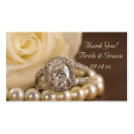 Oval Diamond Ring Wedding Favor Tags Double-Sided Standard Business Cards (Pack Of 100)