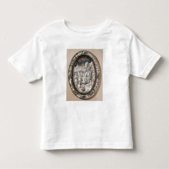Oval dish toddler t-shirt