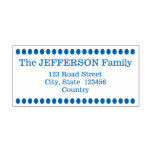 [ Thumbnail: Oval Dots Custom Family Name and Address Self-Inking Stamp ]