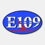 Oval E109 Euro Sticker