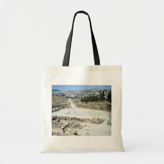 Oval forum from Temple of Zeus Roman city of Jera Canvas Bags