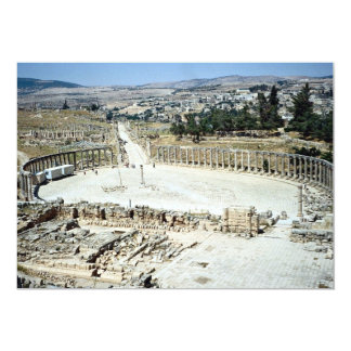 Oval forum from Temple of Zeus, Roman city of Jera Announcements