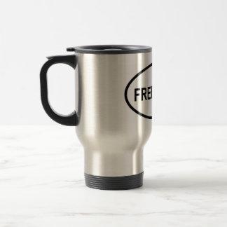 Oval Free Tibet Travel Mug