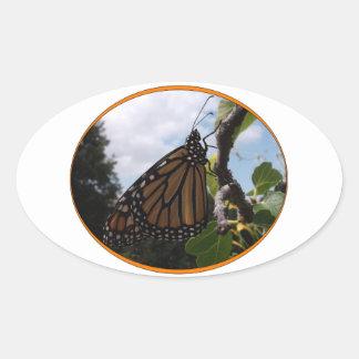 Oval Glossy Stickers,Monarch Style #2a Oval Sticker