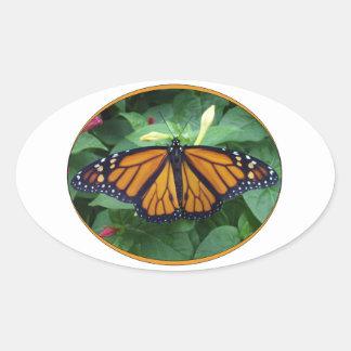 Oval Glossy Stickers,Monarch Style #3a Oval Sticker