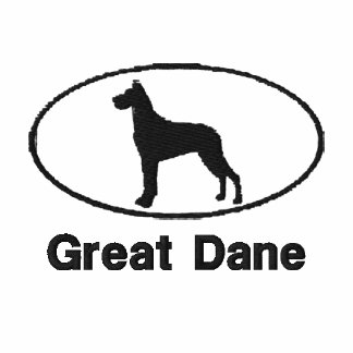 Oval Great Dane Embroidered Shirt