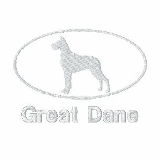 Oval Great Dane Embroidered Shirt Dark
