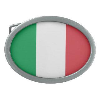 Oval Italy Flag Belt Buckle