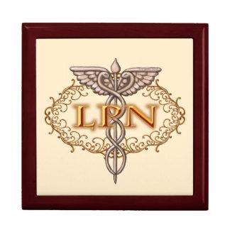 Oval LPN Caduceus Nurse Jewelry Box
