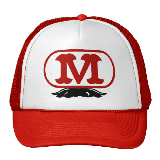 Oval M with Mustache Trucker Hats