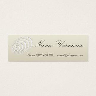 Oval Mini Business Card