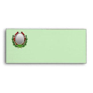 Oval Mirror Olive Branch Envelope