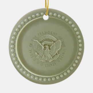 Oval Office Ceiling Presidential USA Seal Ornamen Christmas Ornament