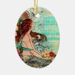 Oval Ornament SeaShore Mermaid