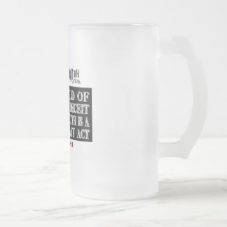 OVAL ORWELL UNIVERSAL DECEIT FROSTED GLASS BEER MUG