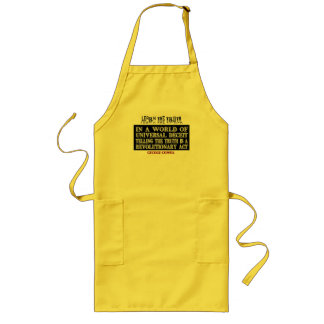 OVAL ORWELL UNIVERSAL DECEIT LONG APRON