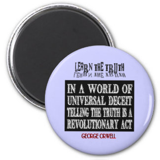 OVAL ORWELL UNIVERSAL DECEIT MAGNET