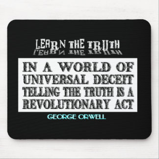 OVAL ORWELL UNIVERSAL DECEIT MOUSE PAD