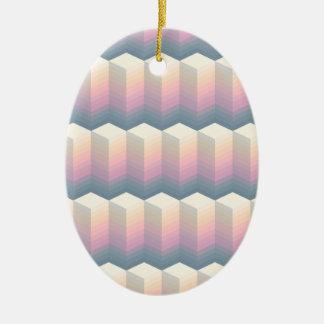 oval pattern ceramic ornament