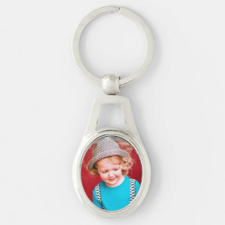 Oval Photo Keychain