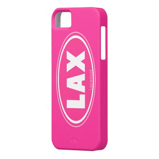 Oval - pink lacrosse iphone 5 case