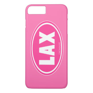 Oval - pink lacrosse iPhone 7 case