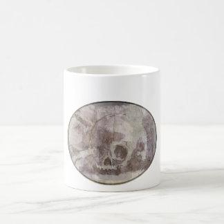 oval pirate skull mug