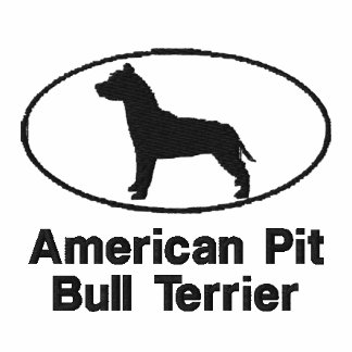 Oval Pit Bull Embroidered Shirt (T-Shirt)
