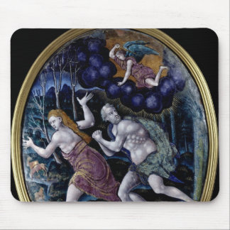 Oval plaque depicting Adam and Eve Mousepad