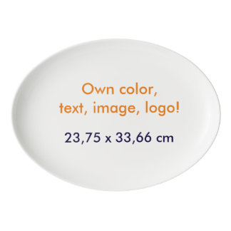 Oval Platter Own Color - uni White