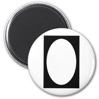 Oval Portrait Black Solid FG The MUSEUM Zazzle Gif Magnet