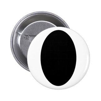 Oval Portrait Black Solid The MUSEUM Zazzle Gifts Button