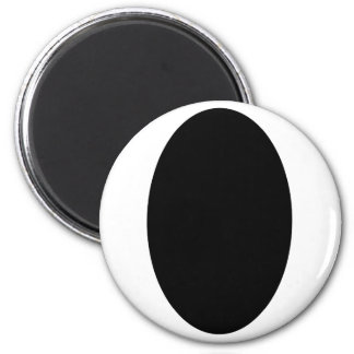 Oval Portrait Black Solid The MUSEUM Zazzle Gifts Fridge Magnet