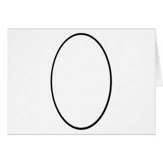 Oval Portrait Black The MUSEUM Zazzle Gifts Greeting Card