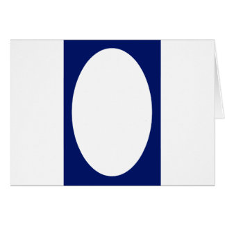Oval Portrait Blue DK Solid FG The MUSEUM Zazzle G Greeting Card