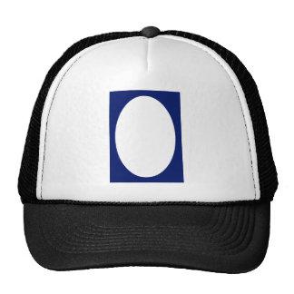 Oval Portrait Blue DK Solid FG The MUSEUM Zazzle G Mesh Hats