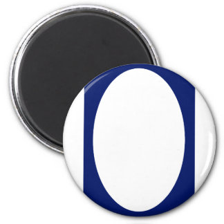 Oval Portrait Blue DK Solid FG The MUSEUM Zazzle G Magnets