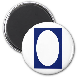 Oval Portrait Blue DK Solid FG The MUSEUM Zazzle G Refrigerator Magnet