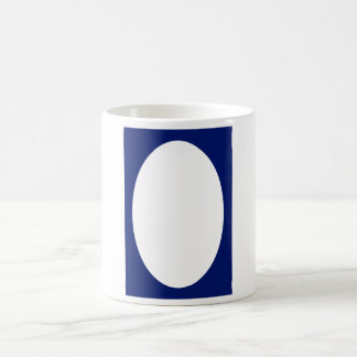Oval Portrait Blue DK Solid FG The MUSEUM Zazzle G Classic White Coffee Mug