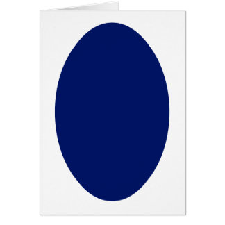 Oval Portrait Blue DK Solid The MUSEUM Zazzle Gift Greeting Card