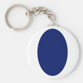 Oval Portrait Blue DK Solid The MUSEUM Zazzle Gift Keychains